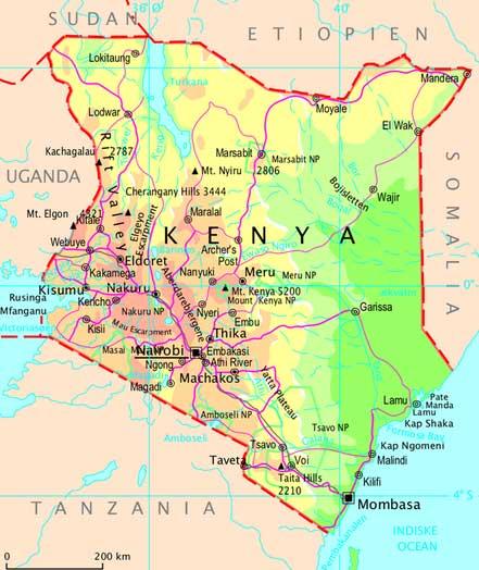 kort over afrikas lande