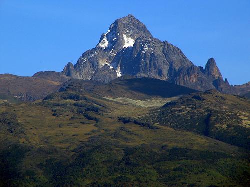 Mount Kenya set fra Nanyuki